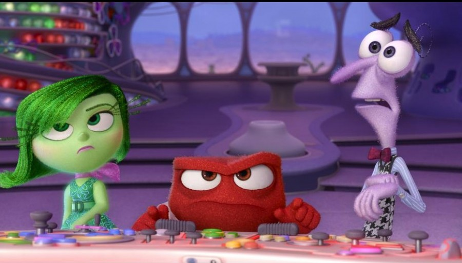 Disgust, Anger, and Fear are left in charge of Headquarters by Mistake  Disney•Pixar.  All Rights Reserved.