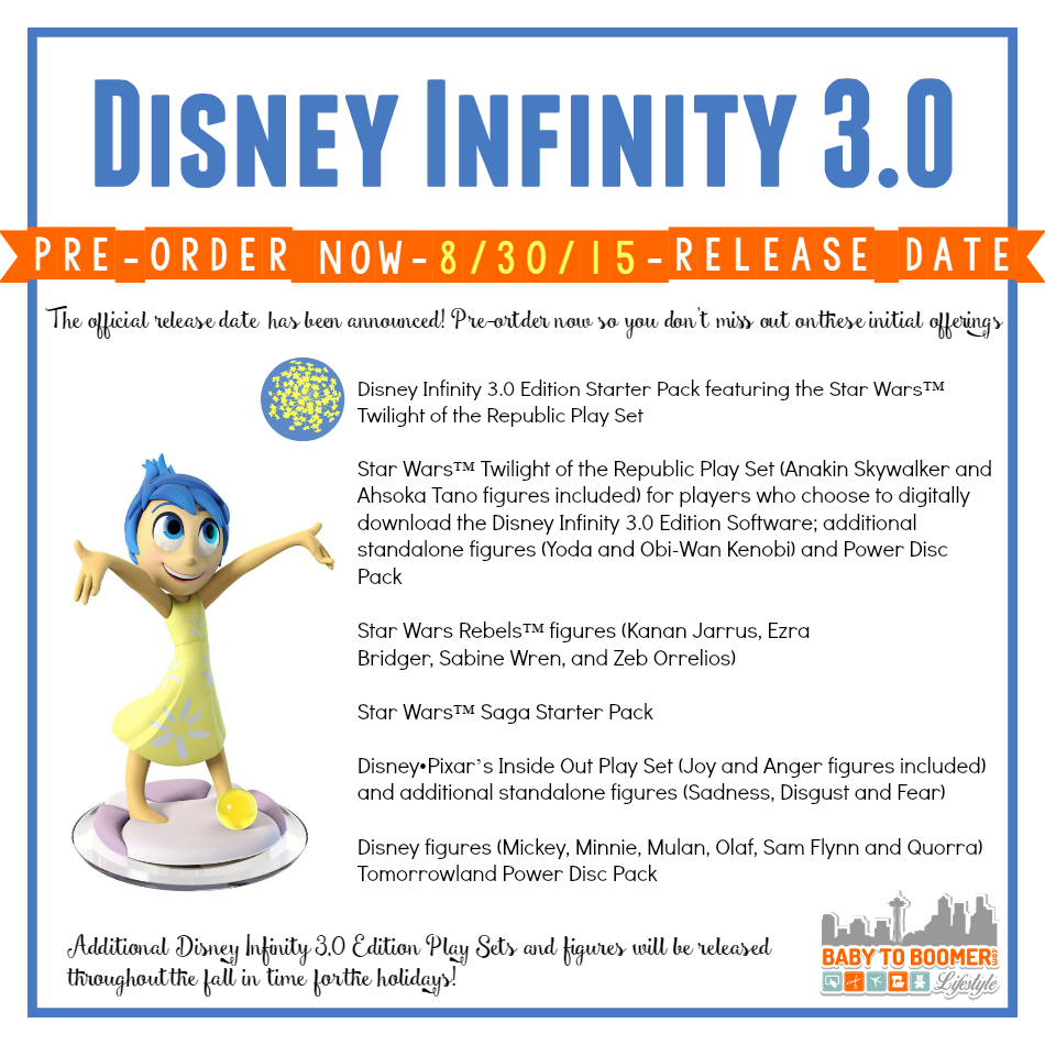 Disney Infinity 3 0 Game Release Date and Pre-order Information