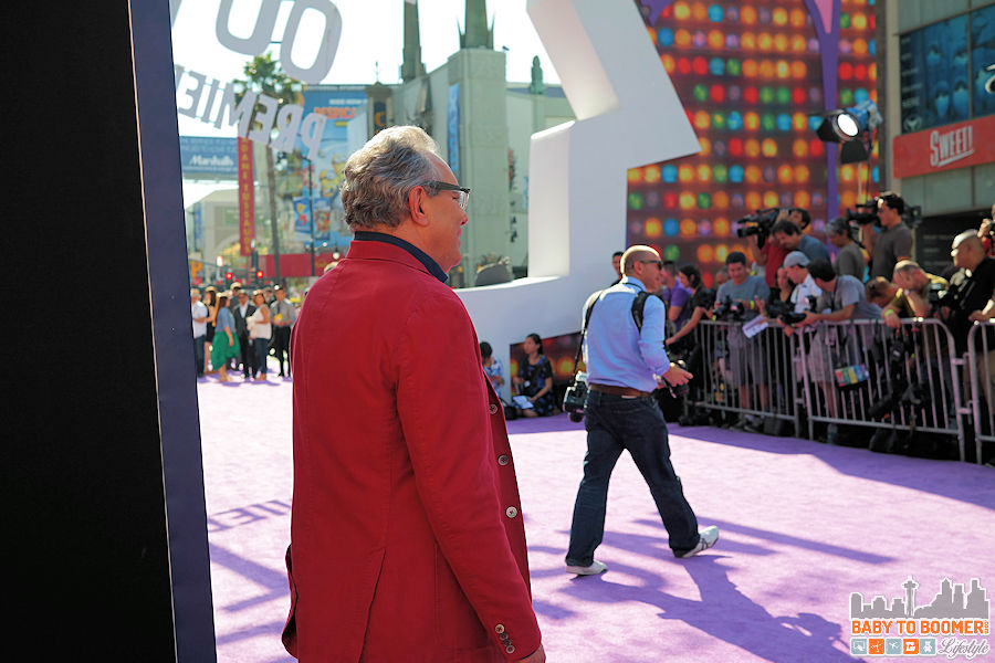 Comedian Lewis Black (voices Anger)  poses for the press at the Disney | Pixar INSIDE OUT Movie Premiere - Hollywood, CA #‎InsideOutEvent ad