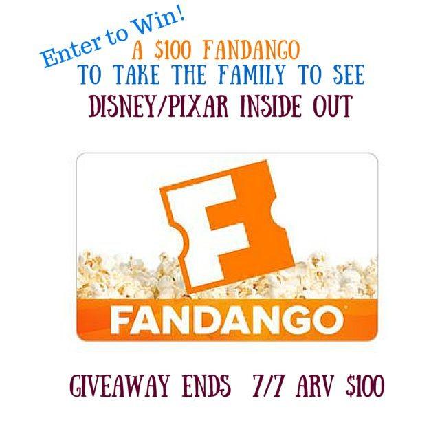 Disney Pixar INSIDE OUT Fandango Giveaway