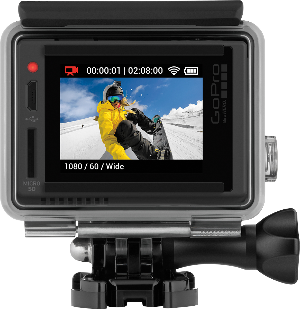 GoPro HERO+-LCD Camera - back shot  GoPro HERO+ LCD Launch at Best Buy Plus Special Offers  #GoProatBestBuy  @GoPro  @BestBuy ad