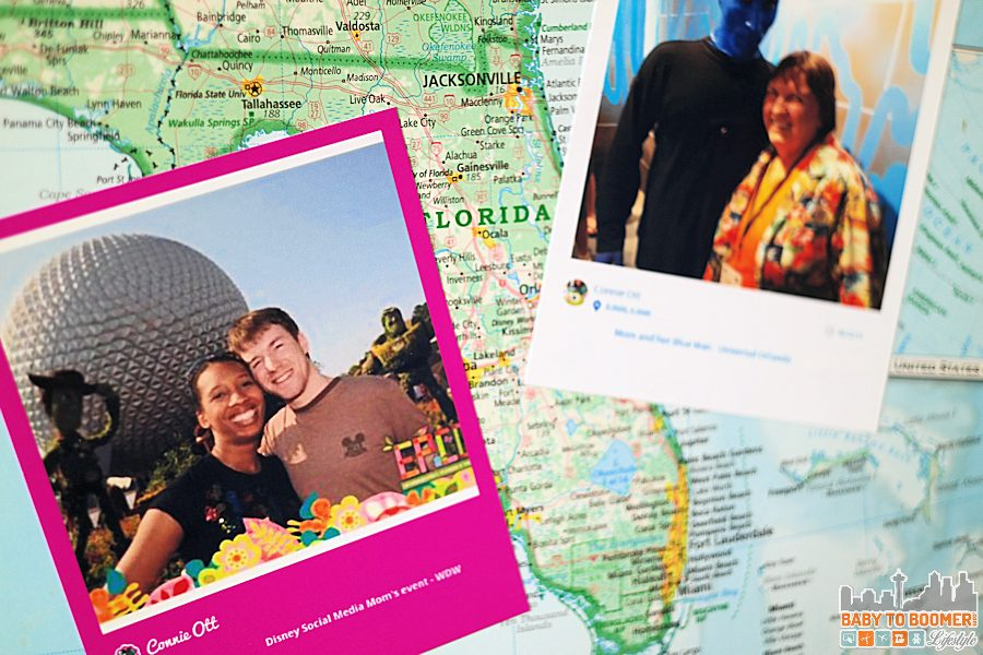 Social Media Snapshots Map Project - Florida - Travel Memories -HP Instant Ink: My Creative Way to Display Travel Photos #NeverRunOut @HP ad #travel