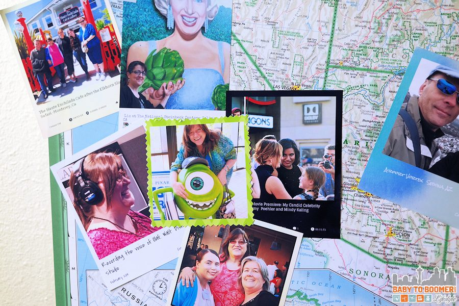 Social Media Snapshots Map Project - Travel Memories - HP Instant Ink: My Creative Way to Display Travel Photos #NeverRunOut @HP ad #travel