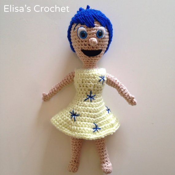INSIDE OUT Joy Crochet Pattern written using US crochet standards and includes step-by-step photos. For all crochet levels. Download it from Elisas Crochet