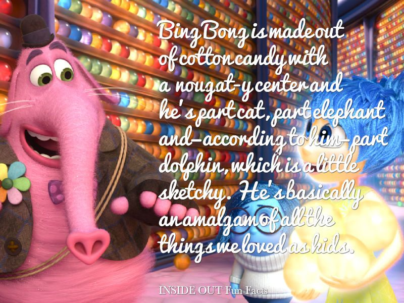 20 INSIDE OUT Fun Facts and Pixar Easter Eggs  - What  is Bing Bong Made Of ?