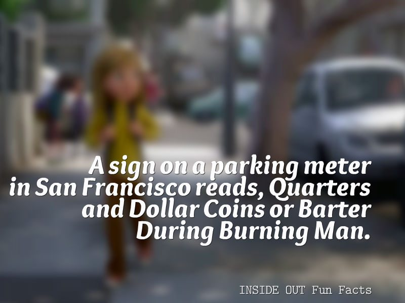 Inside Out Fun Facts - Burning Man Parking Meter