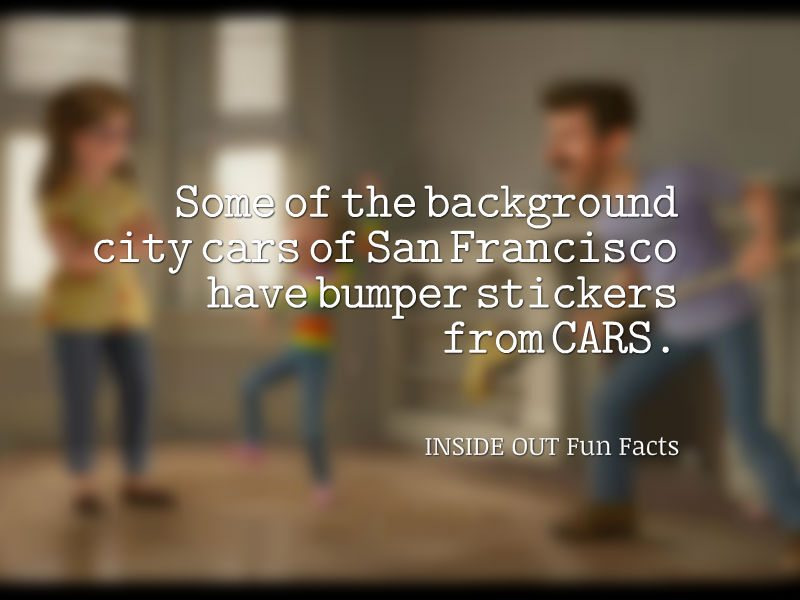 Inside Out Fun Facts - CARS License Plates