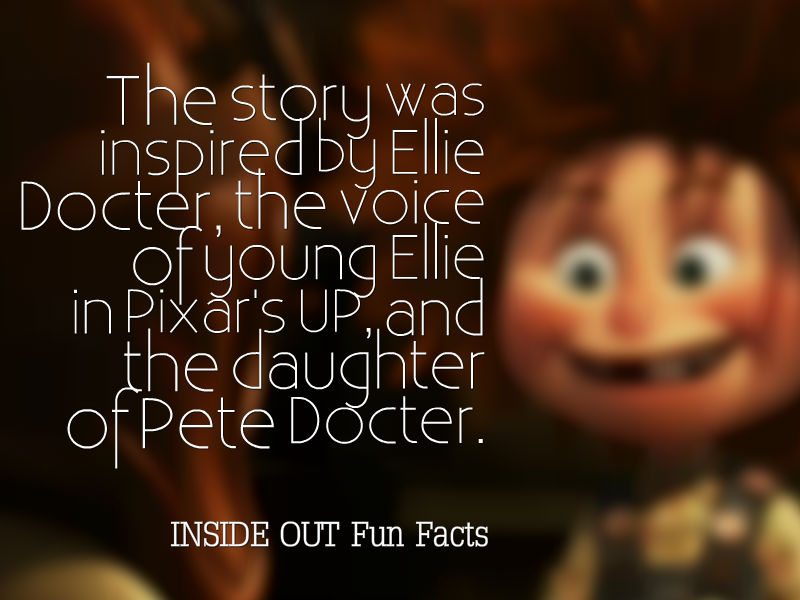 20 INSIDE OUT Fun Facts and Pixar Easter Eggs - Story Inspiration - Ellie Docter