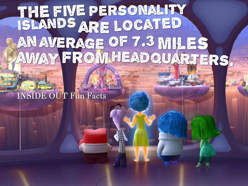 Inside Out Fun Facts - Personality Islands