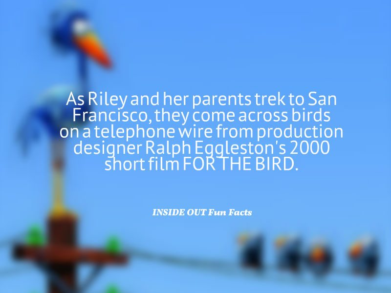 Inside Out Fun Facts - The Birds