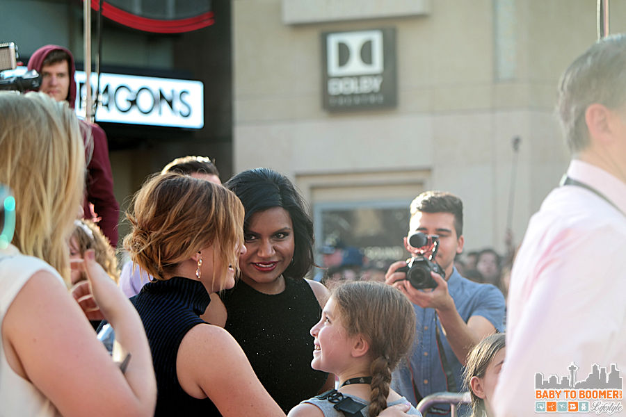 Mindy Kaling (Disgust) and Amy Poehler (Joy) chat before the Disney | Pixar INSIDE OUT Movie Premiere - Hollywood, CA #InsideOutEvent ad