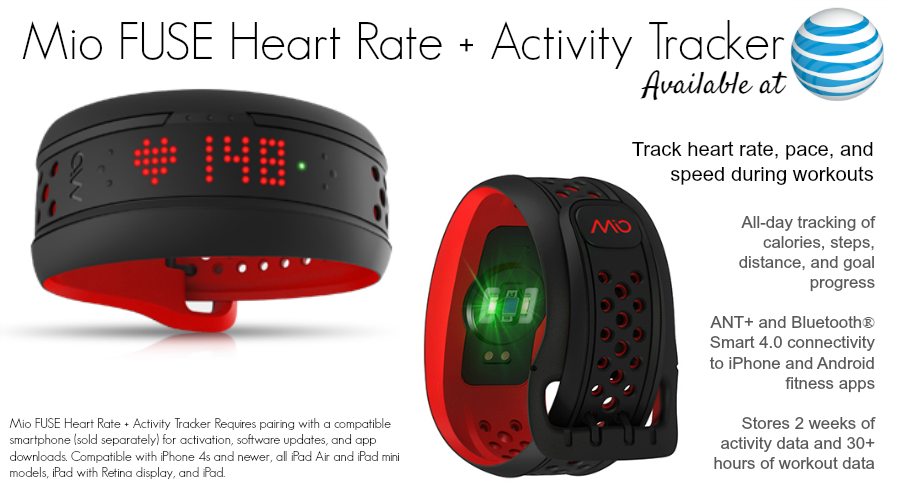 Mio FUSE Heart Rate + Activity Tracker available at ATT.com - 6 New Wearables For Summer: Activity and Fitness Trackers From $49 to $450 #ATTSeattle ad