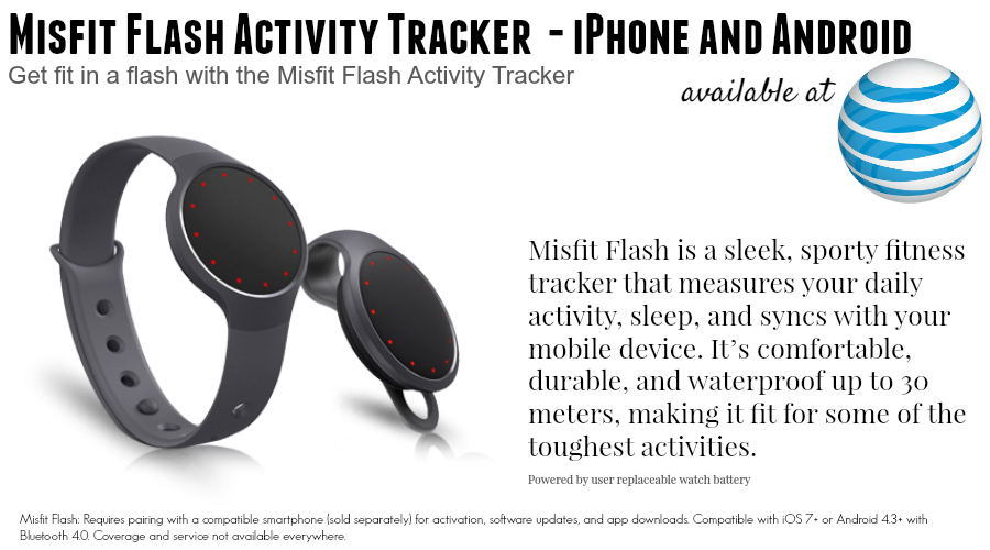 Misfit Flash Activity Tracker - 6 New Wearables For Summer: Activity and Fitness Trackers From $49 to $450 #ATTSeattle ad