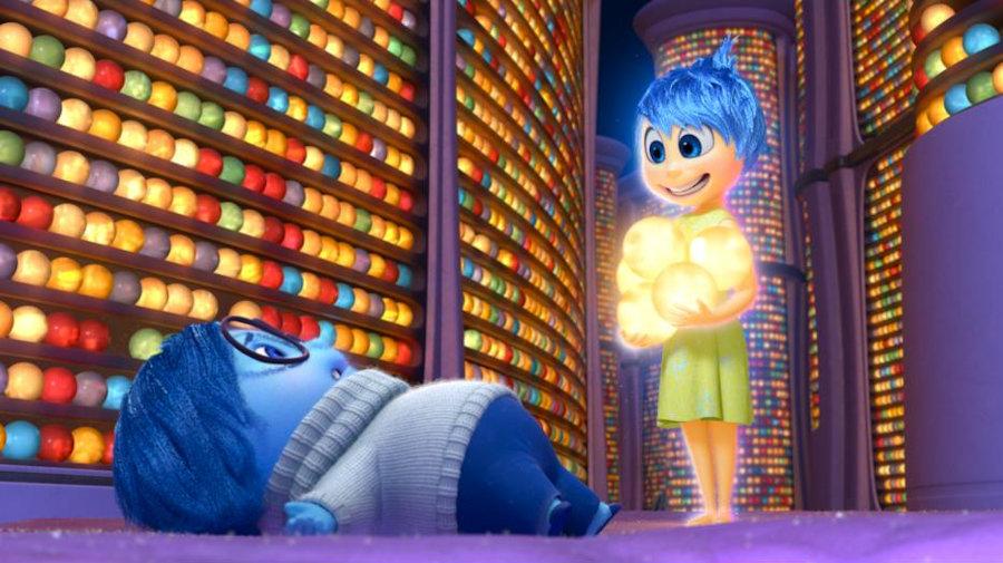 Joy and Sadness inside the Long Term Memory Storage  Photo Credit: Disney|Pixar