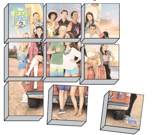 Teen Beach 2 Crafts - Box Puzzle - Teen Beach 2 Movie Party - Recipes, Crafts, Decorations #TeenBeach2 ad