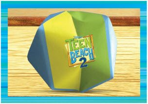 Teen Beach 2 Crafts - Origami Beach Ball - Teen Beach 2 Movie Party - Recipes, Crafts, Decorations #TeenBeach2 ad