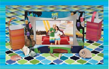 Teen Beach 2 Crafts - Picture Frame - Teen Beach 2 Movie Party - Recipes, Crafts, Decorations #TeenBeach2 ad