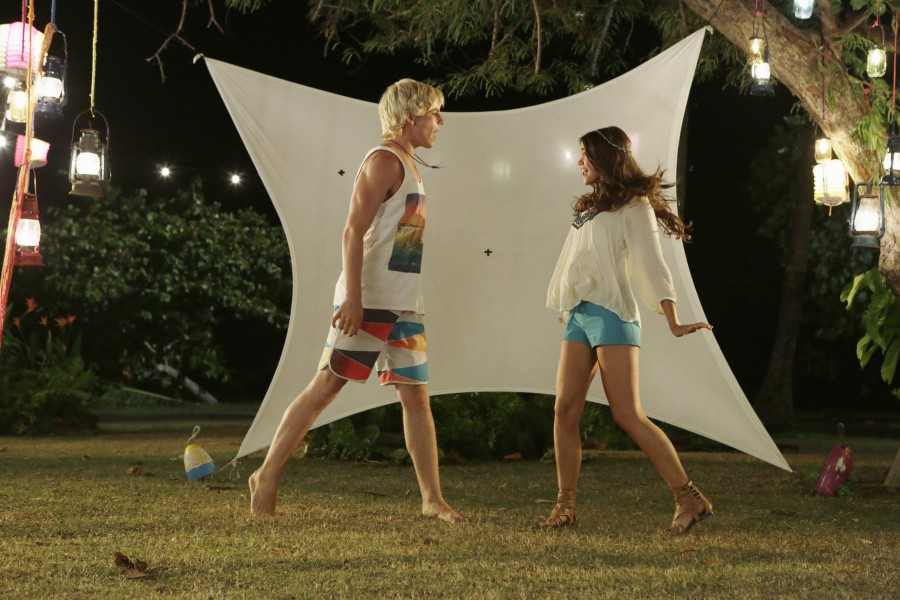 TEEN BEACH 2 - Day 4. (Disney Channel/Francisco Roman).ROSS LYNCH, MAIA MITCHELL