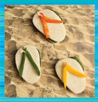 Teen Beach 2 Recipes - Flip Flop Sandwiches - Teen Beach 2 Movie Party - Recipes, Crafts, Decorations #TeenBeach2 ad
