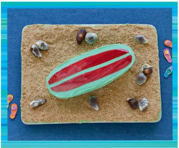 Teen Beach 2 Recipes - Hang Ten Surf Board Cake - Teen Beach 2 Movie Party - Recipes, Crafts, Decorations #TeenBeach2 ad