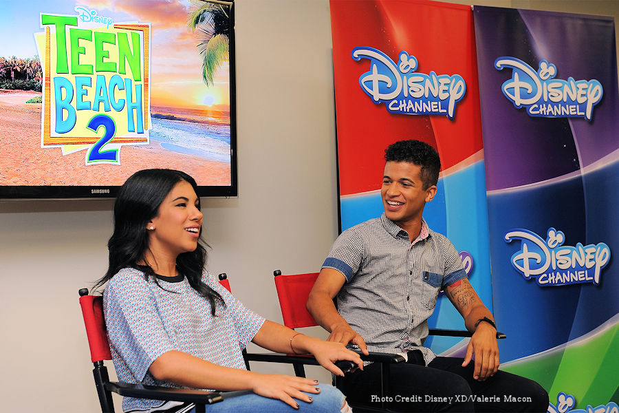 "Teen Beach Movie and Teen Beach 2 stars CHRISSIE FIT (""CheeChee"") and JORDAN FISHER (""Seacat"")  - ad"