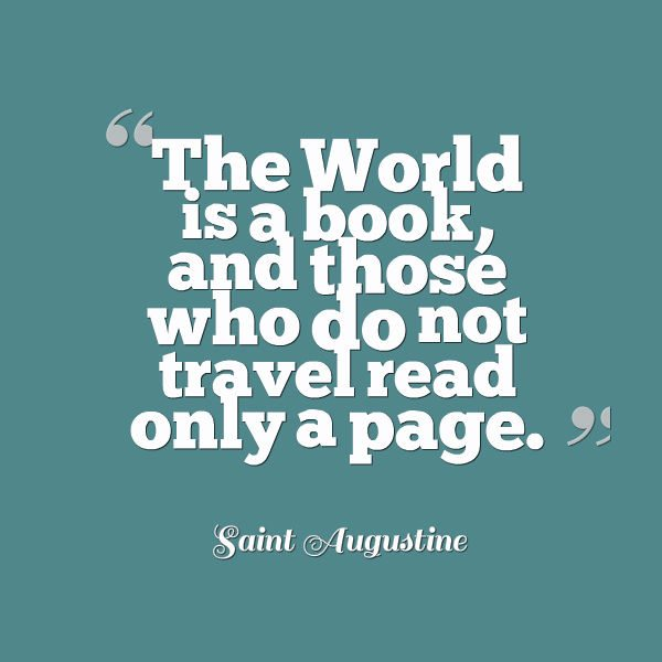 Travel Quote - The World is a book