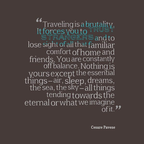 Travel Quotes - Travel is Brutality