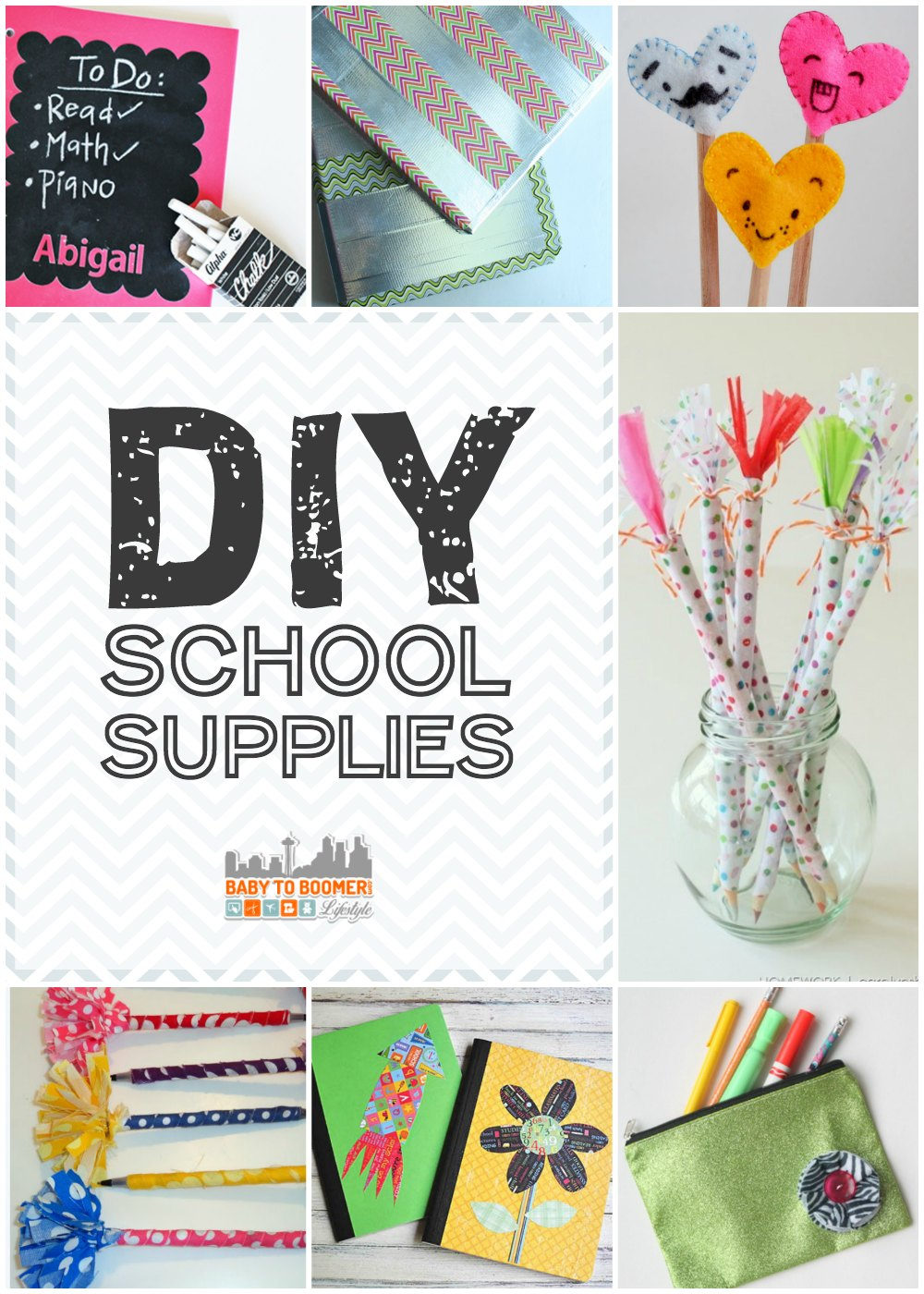 DIY School Supplies for Back to School