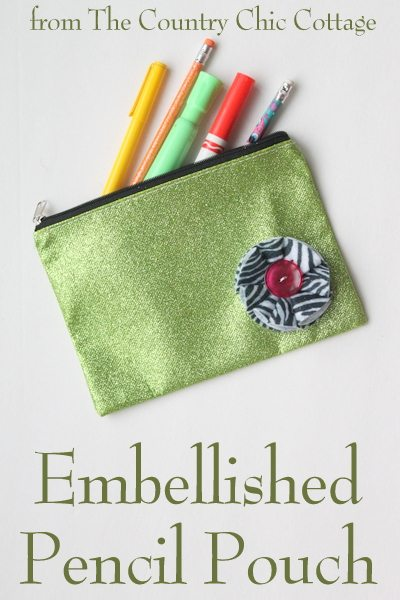 Embellished Pencil Pouch for Back to School