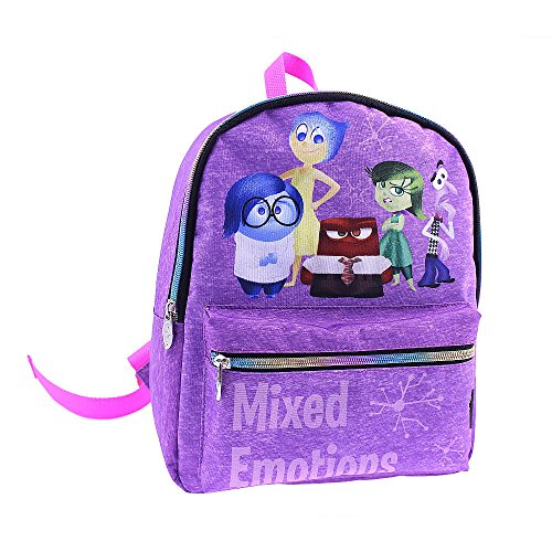 INSIDE OUT Backpack - we love the purple fabric on this one. All five emotions are here.