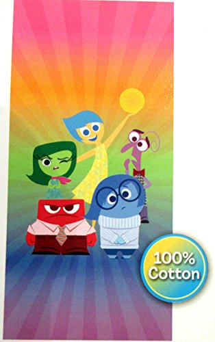 Disney INSIDE OUT Cotton Beach Towel - Joy, Sadness, Disgust, Fear, and Anger