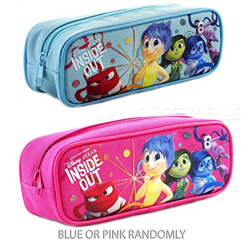 Disney INSIDE OUT Pencil Case - Pink or Blue - all five characters