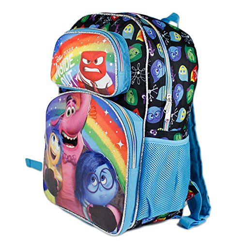 """Disney Pixar INSIDE OUT School Bag - Joy, Anger, Sadness, and Bing Bong are featured on this 16"""" School Backpack. Lots of pockets to keep organized!"""
