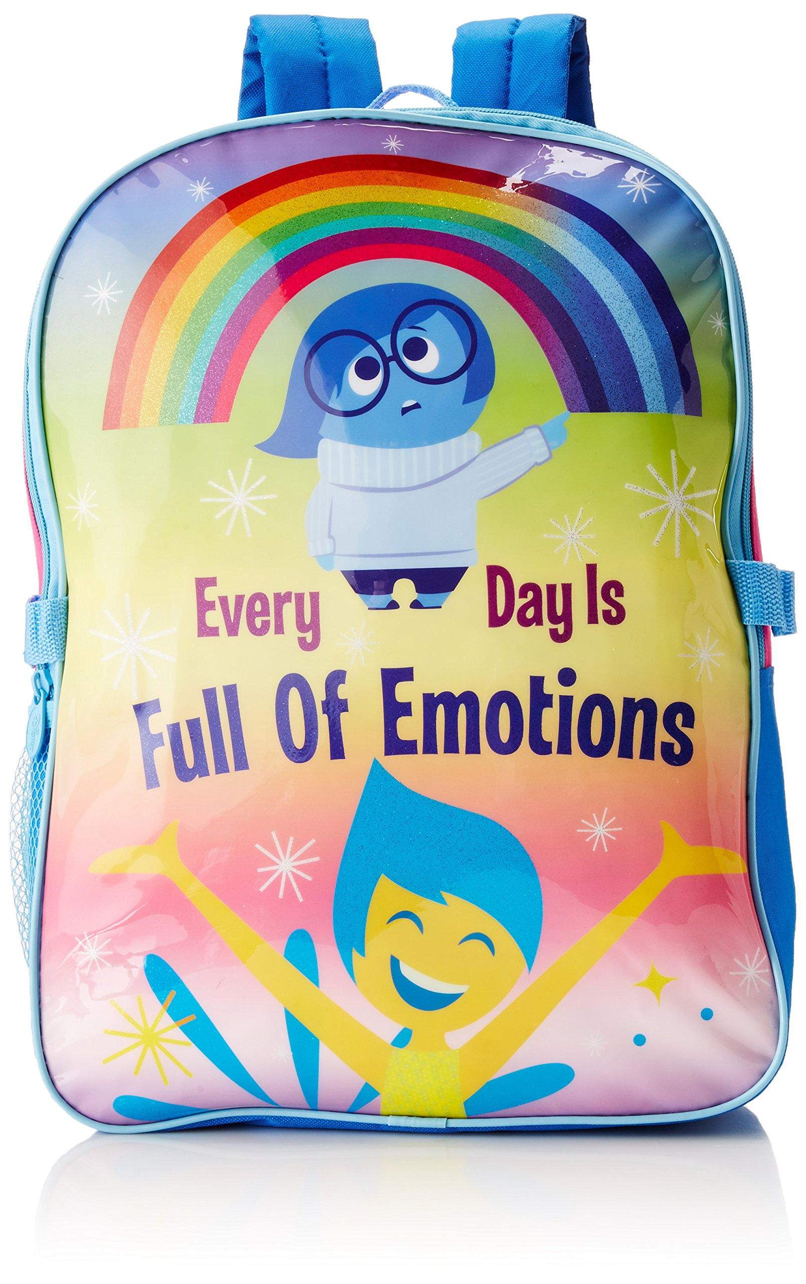 Disney Girl's INSIDE OUT Backpack with Lunch Kit - Joy and Sadness