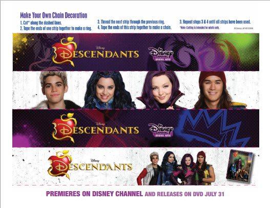 Disney Descendants Premiere Party Chain Decoration   Free Printable