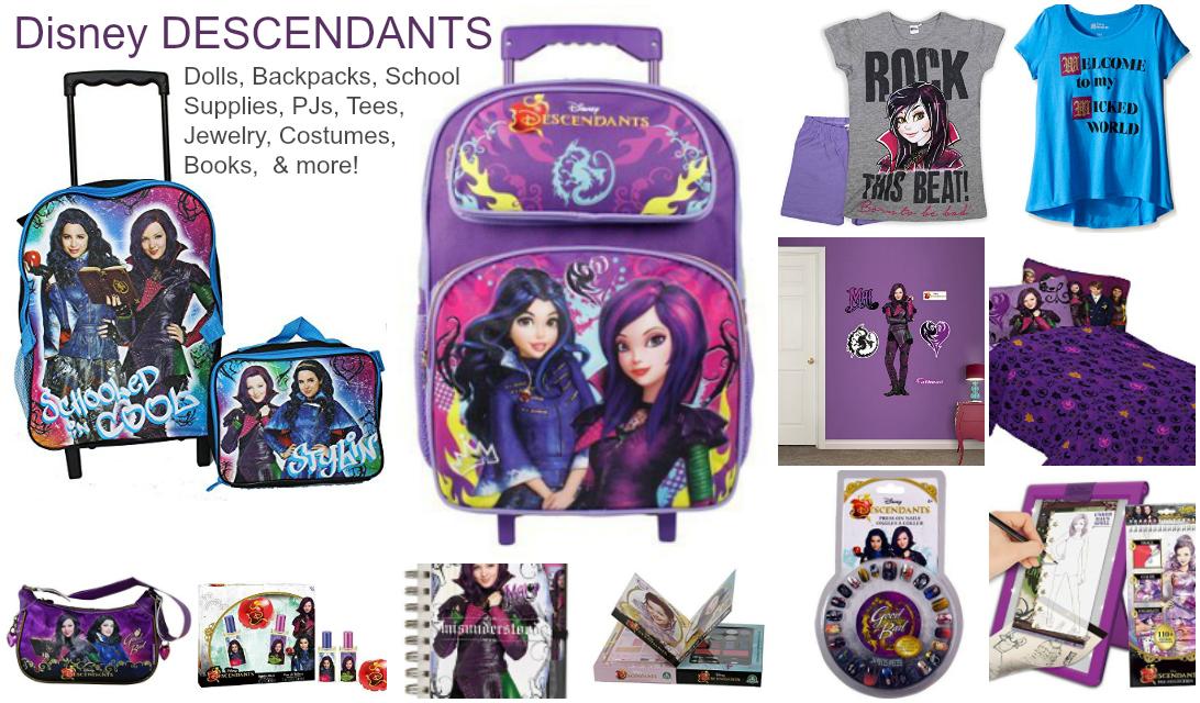 Disney Descendants Dolls Backpacks Jewelry Costumes Books Etc