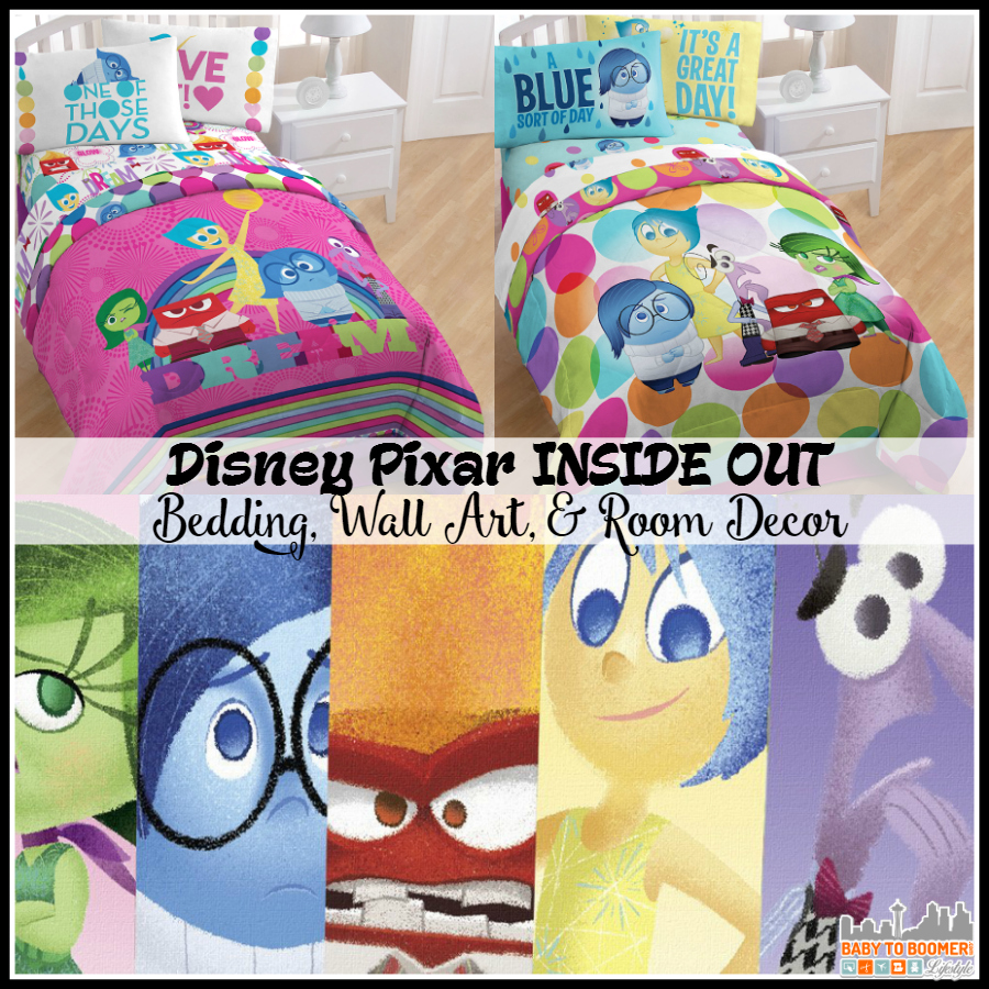 Disney Pixar INSIDE OUT Bedding, Wall Art, and Bedroom Decor