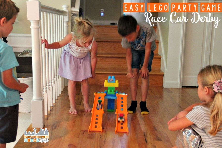 Easy Birthday Party Game - LEGO Race Car Derby - LEGO Party Games on a Budget - A Fifth Birthday Bash