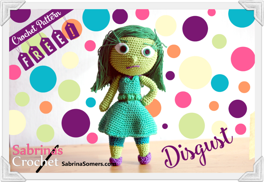 Free Disgust INSIDE OUT movie Crochet Pattern doll
