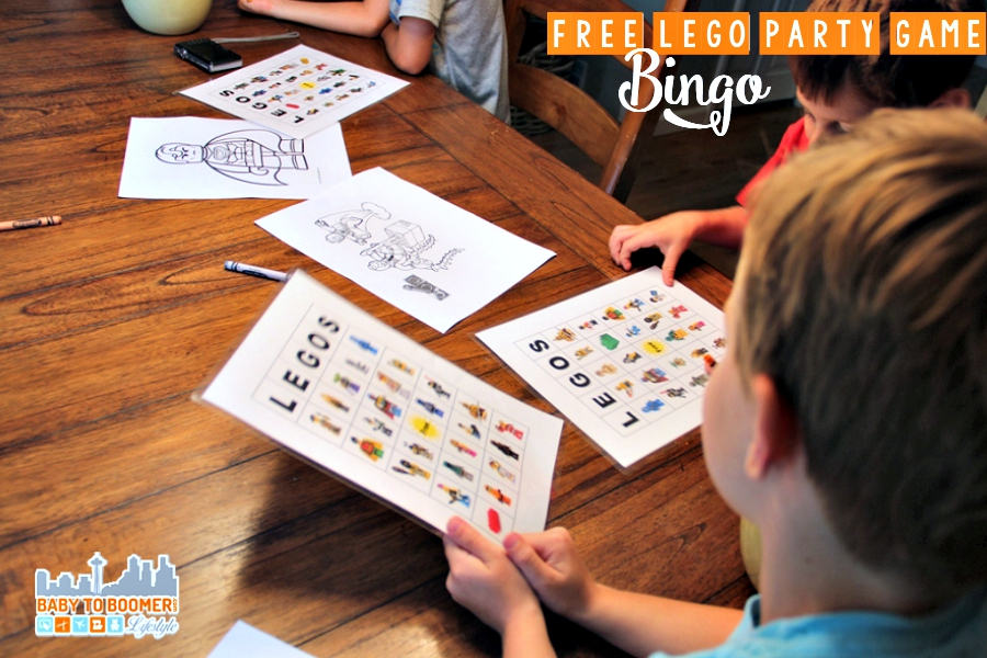 Free LEGO BINGO Game - Downloadable and printable  - LEGO Party Games on a Budget - A Fifth Birthday Bash