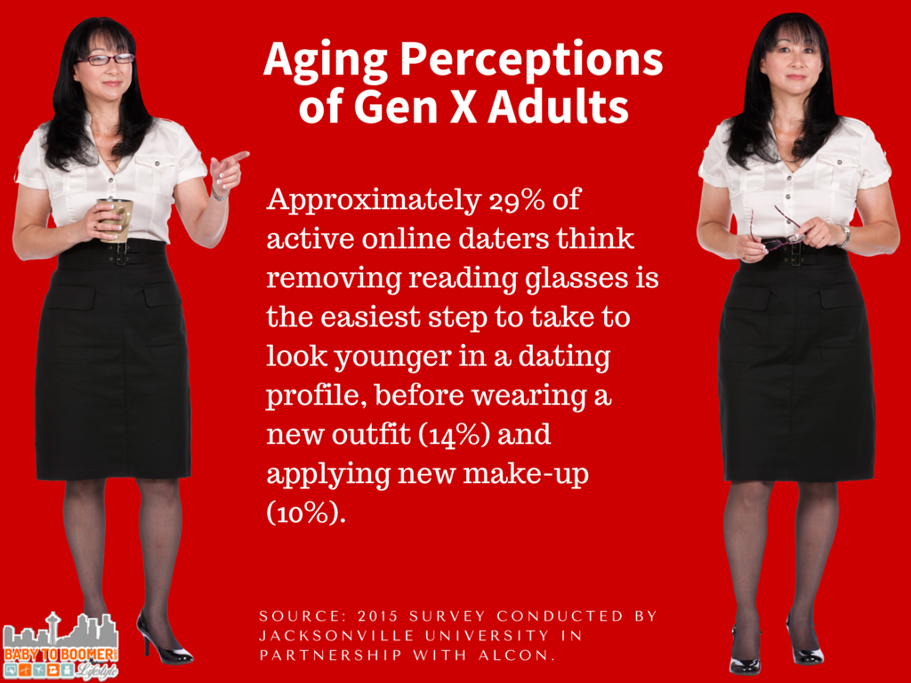 Gen X Survey do reading glasses make you look older before and after photos - Gen X - What We Think About Aging and Looking Older #LoseYourReaders #sponsored