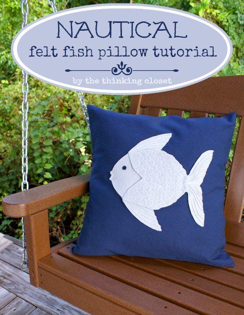 Felt Fish Pillow.