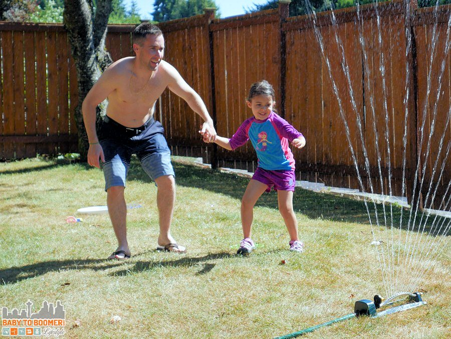 Sprinkler fun - Summer in Motion with the new Panasonic Lumix G7 #4KFun #4KPhoto #IC #ad