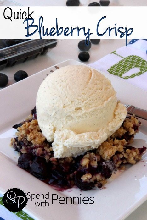 Quick & Easy Blueberry Crisp