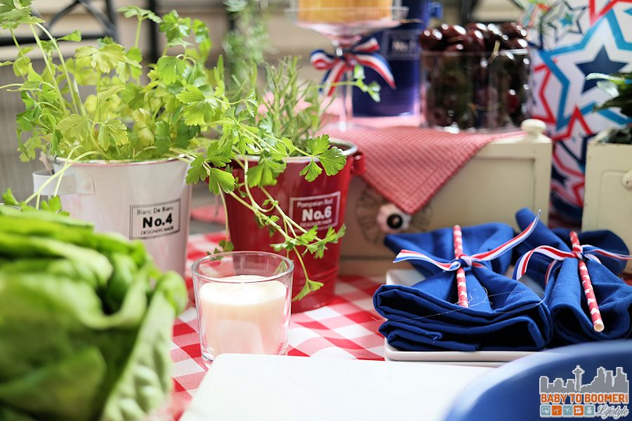 Red White Blue Table Decor - Avocado and Chicken Lettuce Wraps in 5 Minutes ReadySetChicken AD