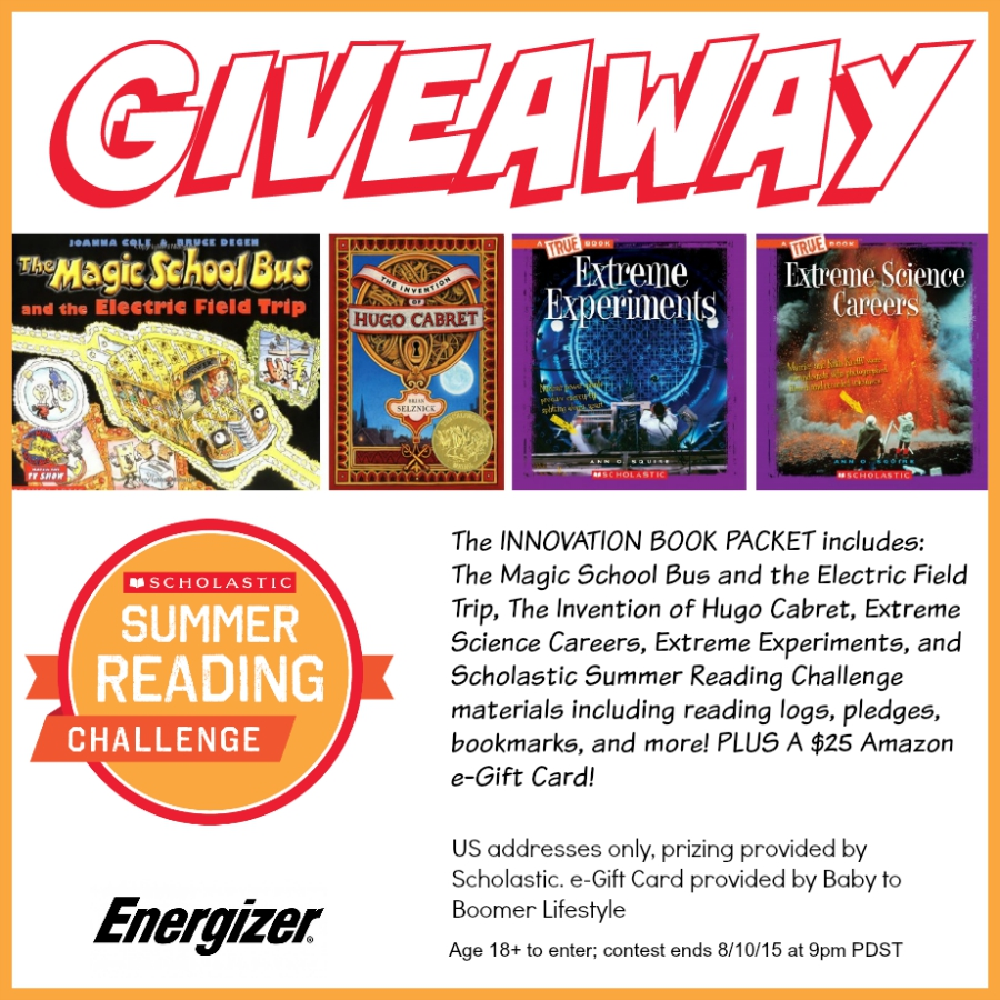 Scholastic Book and Amazon Gift Card Giveway