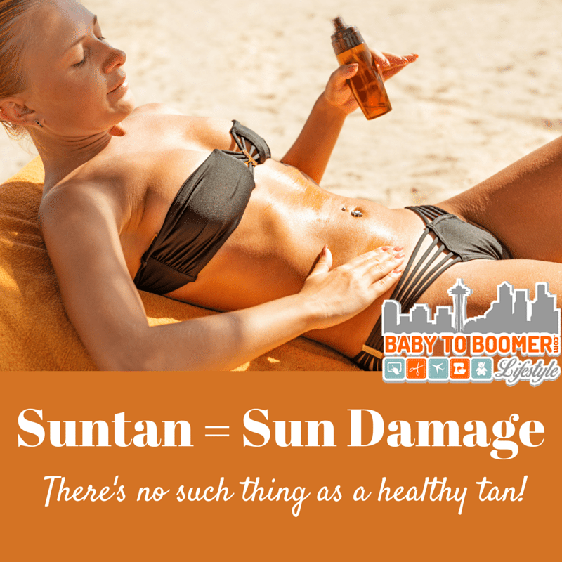 Suntan is Sun Damage - How to Avoid Skin Cancer: Plus Sunscreen for Eczema and Sensitive Skin #ChooseSkinHealth #IC ad