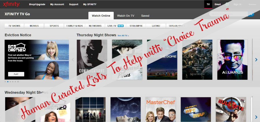 XFinity to Go Online User Interface - Human Editors - XFINITY Summer Hotlist: Find Out What's Popular Plus Expert Curated Lists @Xfinity #XFINITYOnDemand