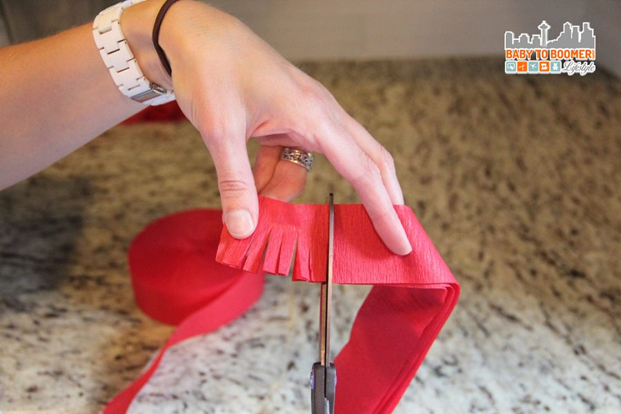 DIY Lego Pinata -- fringe how-to - Lego Pinata - Create Your Own DIY Party Decor