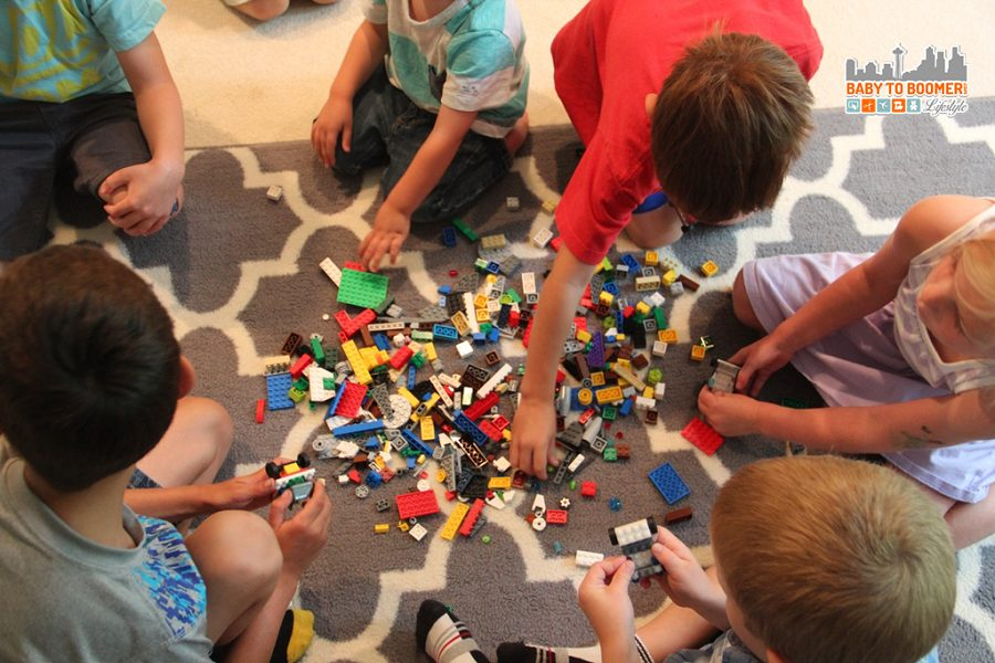 LEGO game ideas - Free Play : LEGO Party Games on a Budget - A Fifth Birthday Bash